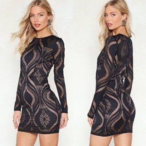 NEW Lucy Wang x Nasty Gal Lace Bodycon Mini Dress